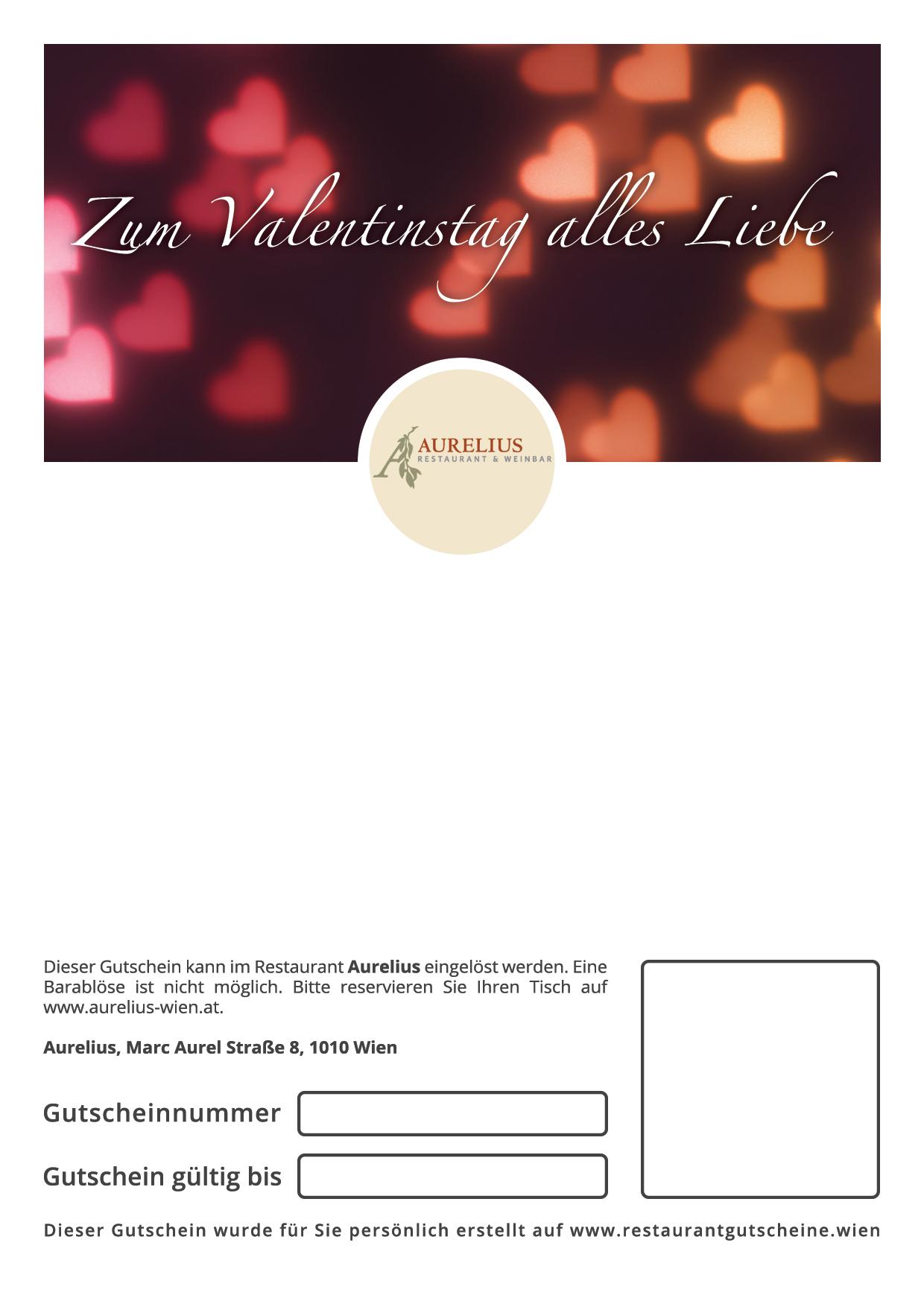 Aurelius   Gutscheine Zum Valentinstag Schenken   Restaurant Gutscheine Wien