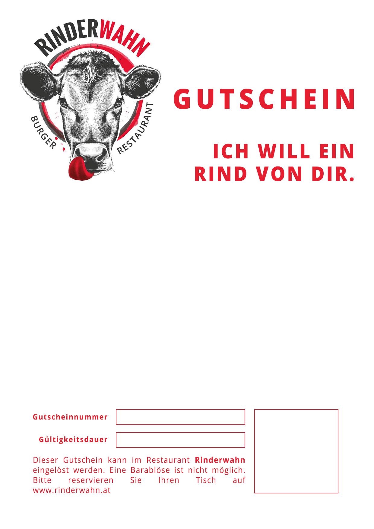 Rinderwahn - Geschenkgutschein zum Selbstausdrucken | Restaurant ...