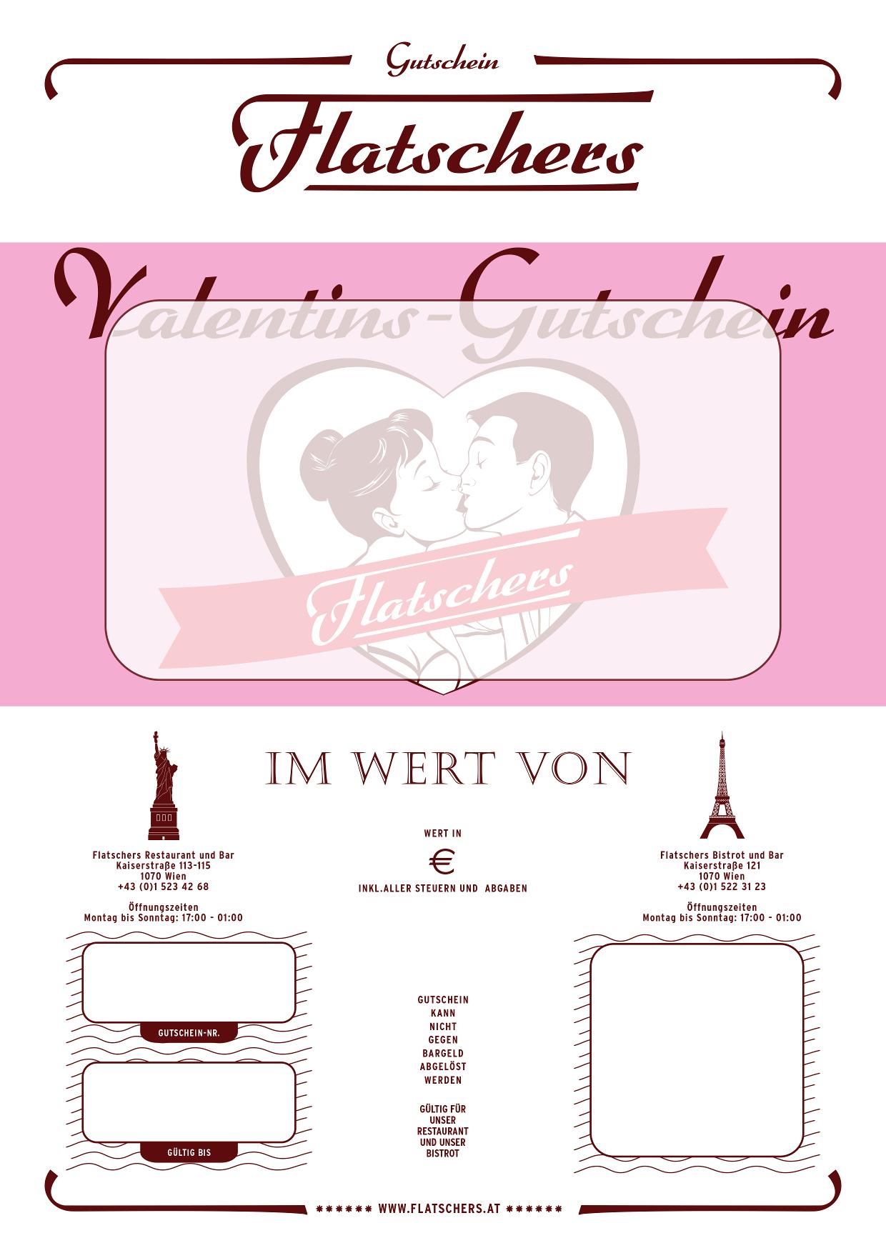 Flatschers   Gutscheine Zum Valentinstag Schenken   Restaurant Gutscheine  Wien